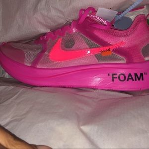 pink off white shoes